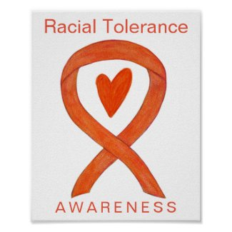 Racial Tolerance Awareness Ribbon Art Poster Print