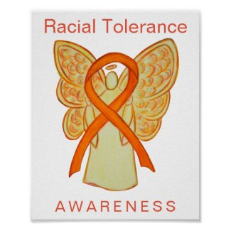 Racial Tolerance Awareness Ribbon Art Print Poster