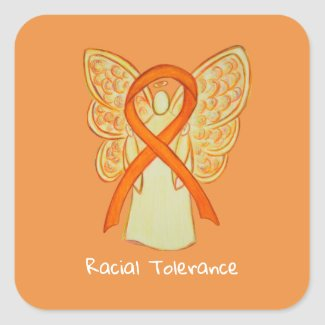 Racial Tolerance Awareness Ribbon Decal Stickers