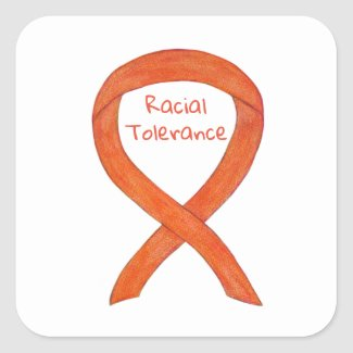 Racial Tolerance Awareness Ribbon Sticker Decals