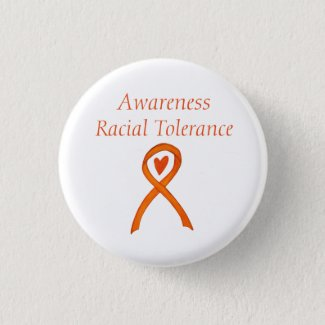 Racial Tolerance Orange Awareness Ribbon Pins