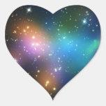 Racimo Abell 520 de la galaxia Calcomanías De Corazones Personalizadas