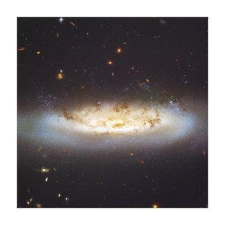 Racimo barrado de la galaxia del virgo de la galax lienzo envuelto para galerías