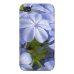 Racimo de flor azul encantador iPhone 4 funda