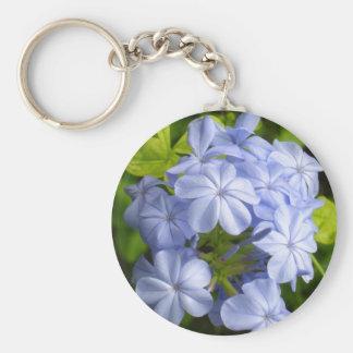 Racimo de flor azul encantador llavero redondo tipo pin
