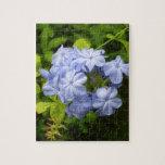 Racimo de flor azul encantador puzzle con fotos