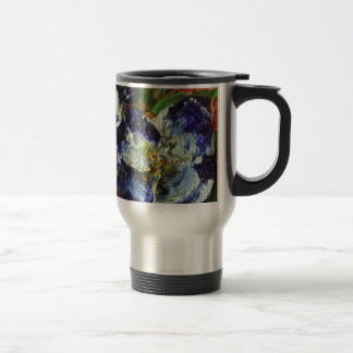 Racimo de flor azul taza de viaje de acero inoxidable