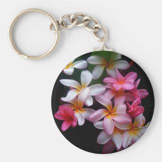 Racimo de flor brillante del rosa de la primavera llavero redondo tipo pin