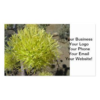 Racimo de flor gigante del agavo tarjetas de visita