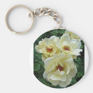 Racimo de flor llavero redondo tipo pin