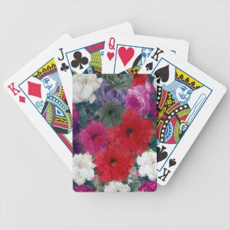 Racimo de flores abstractas baraja de cartas