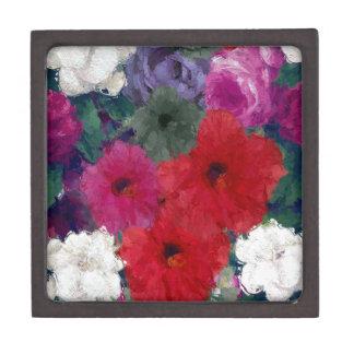 Racimo de flores abstractas caja de recuerdo de calidad