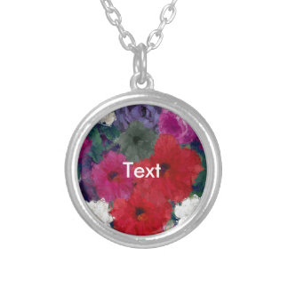 Racimo de flores abstractas colgante redondo