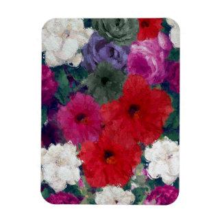 Racimo de flores abstractas imanes rectangulares