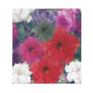Racimo de flores abstractas libretas para notas