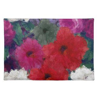 Racimo de flores abstractas mantel individual