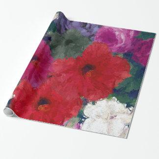 Racimo de flores abstractas papel de regalo