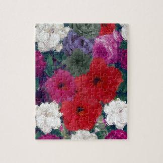 Racimo de flores abstractas puzzle con fotos
