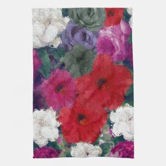 Racimo de flores abstractas toalla