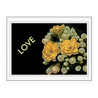 Racimo de flores amarillas tarjeta postal