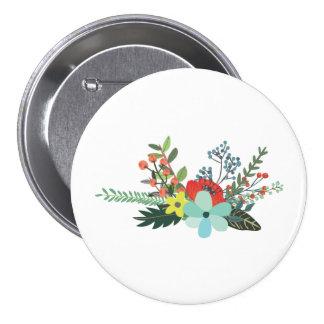 Racimo de flores popular pin redondo 7 cm