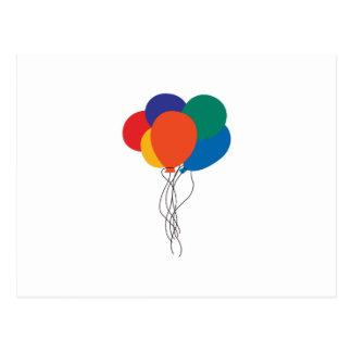 Racimo de globos postal