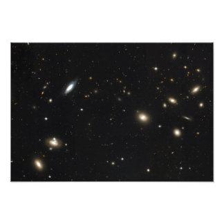 Racimo de la coma de galaxias fotografías