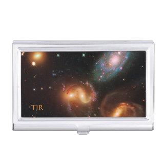 Racimo de la galaxia de la estrella del espacio caja de tarjetas de negocios
