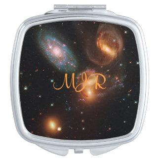 Racimo de la galaxia de la estrella del espacio espejos maquillaje