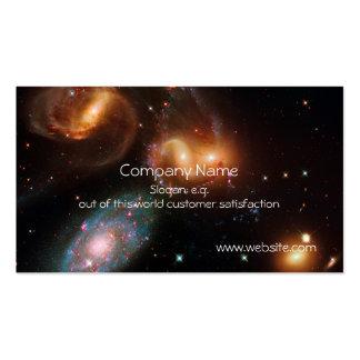 Racimo de la galaxia de la estrella del espacio pr tarjetas de visita