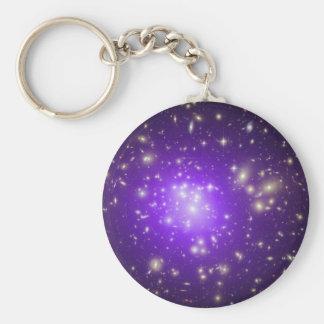 Racimo de la galaxia llavero redondo tipo pin