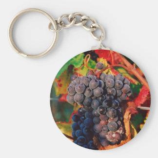 Racimo de la uva llavero redondo tipo pin
