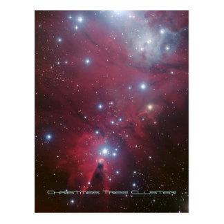 Racimo del árbol de navidad y nebulosa del cono, tarjeta postal