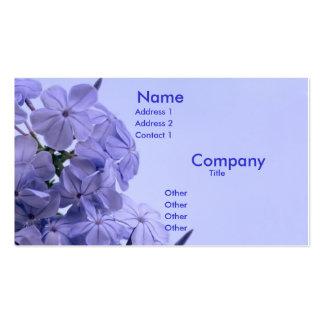 Racimo del azul de cielo tarjeta de visita