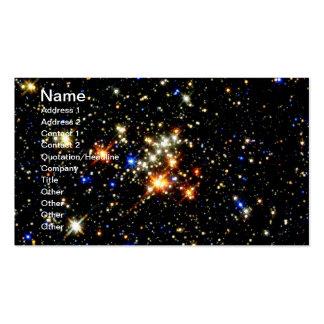 Racimo del Quintuplet de NASAs Plantilla De Tarjeta De Visita