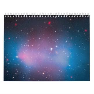 Racimo EL Gordo de la galaxia con el mapa y la r Calendario