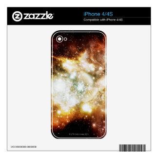 Racimo estupendo del nacimiento de la estrella calcomanía para el iPhone 4