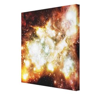 Racimo estupendo del nacimiento de la estrella lona envuelta para galerias