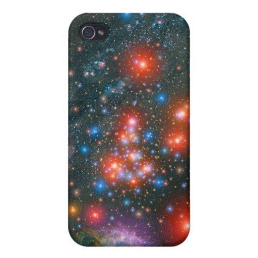 Racimo gigante estupendo rojo iPhone 4/4S carcasas