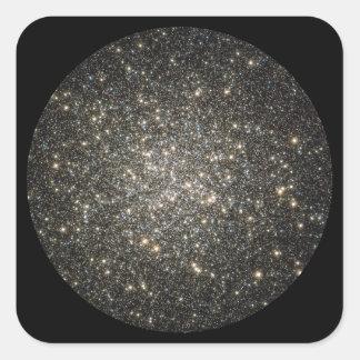 Racimo globular M13 2 Pegatina Cuadrada