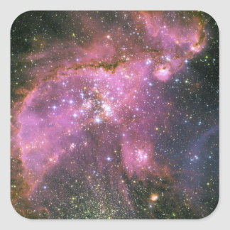 Racimo NGC 346 de la formación estelar Pegatina Cuadrada