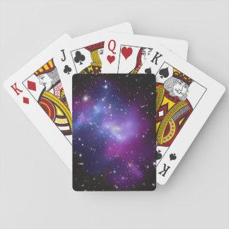 Racimo púrpura de la galaxia barajas de cartas
