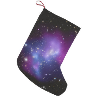 Racimo púrpura de la galaxia bota navideña pequeña