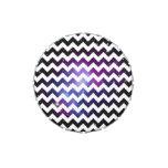 Racimo púrpura de la galaxia del zigzag blanco