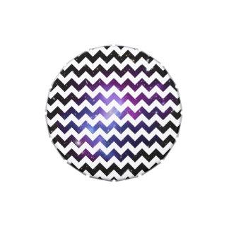 Racimo púrpura de la galaxia del zigzag blanco jarrones de dulces