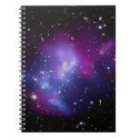Racimo púrpura de la galaxia libros de apuntes