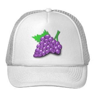 Racimo púrpura de la uva gorros bordados