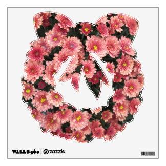 Racimo rosado asombroso del crisantemo vinilo decorativo