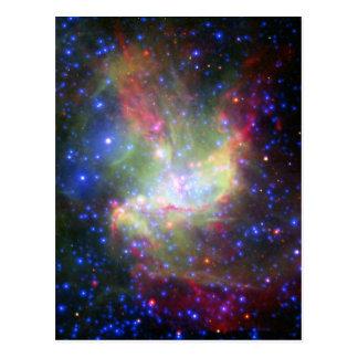 Racimo y nebulosa de NGC 346 en Tucana Tarjetas Postales