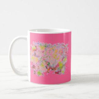 racimos de flor en colores pastel taza clásica